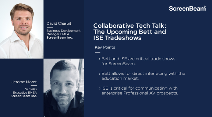 Collaborative Tech Talk: Thoughts on Upcoming Bett and ISE Tradeshows