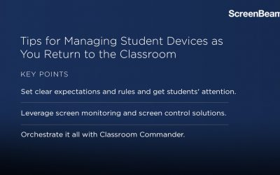 Tips for Managing Student Devices as You Return to the Classroom