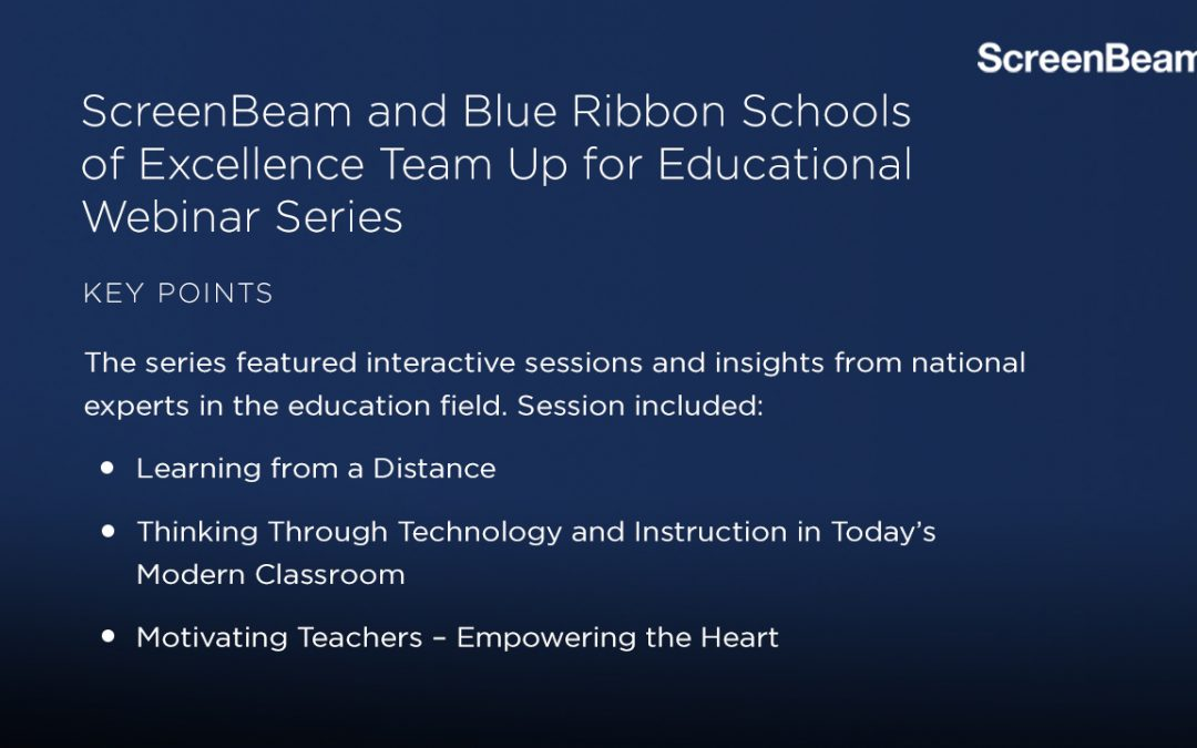 ScreenBeam and Blue Ribbon Schools of Excellence Team Up for Educational Webinar Series
